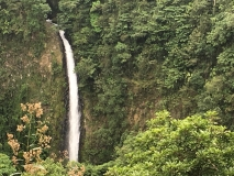 La Fortuna Waterfall, from a distance