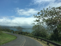 4. Driving to La Fortuna. Lake Arenal