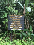 Cahuita National Park trail sign