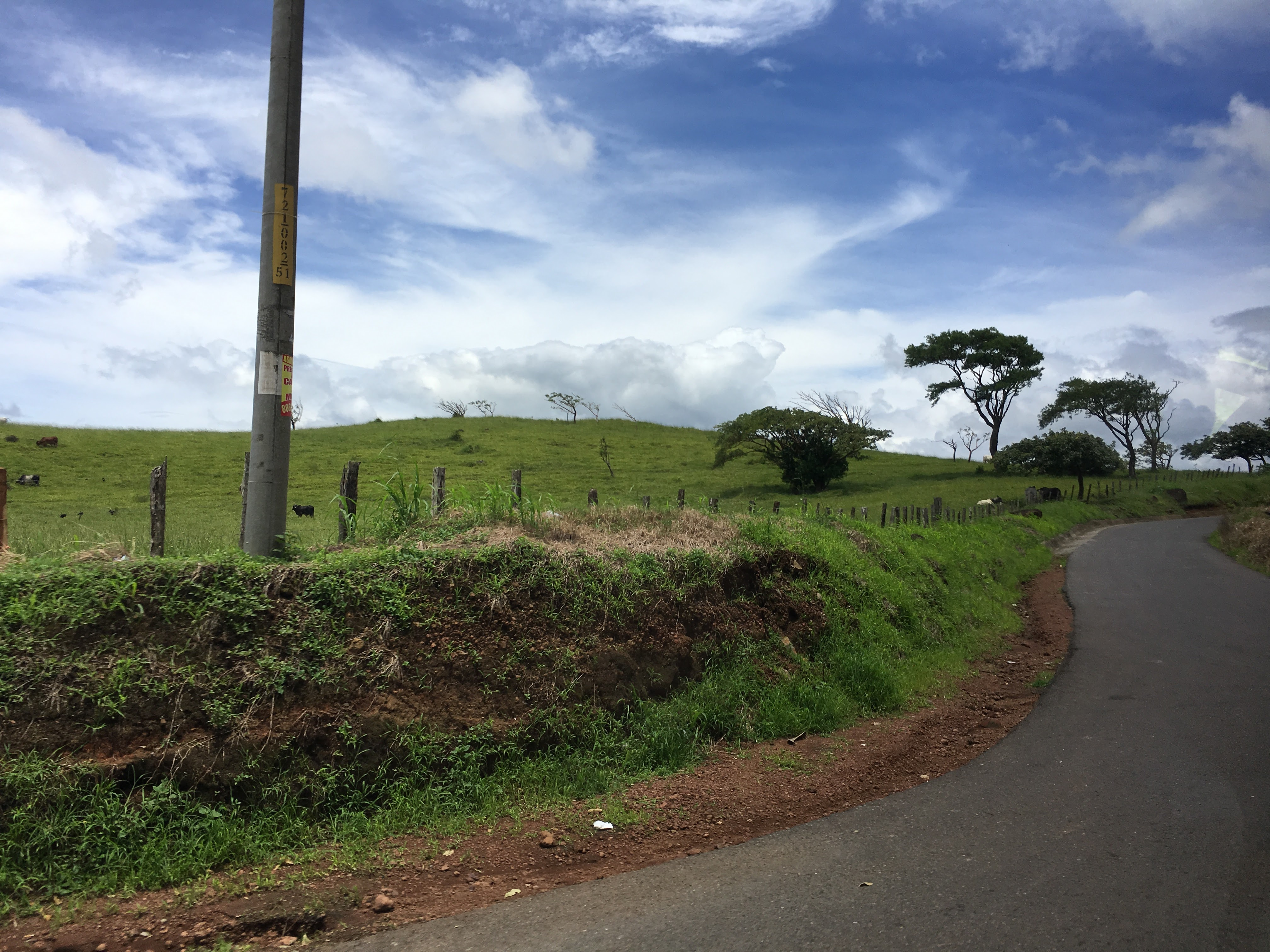 Tipico Costa Rican pastures and winding roads