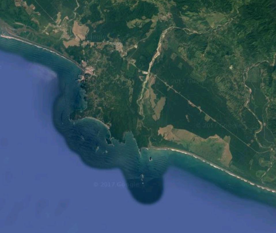 Satellite map of Quepos/Manuel Antonio