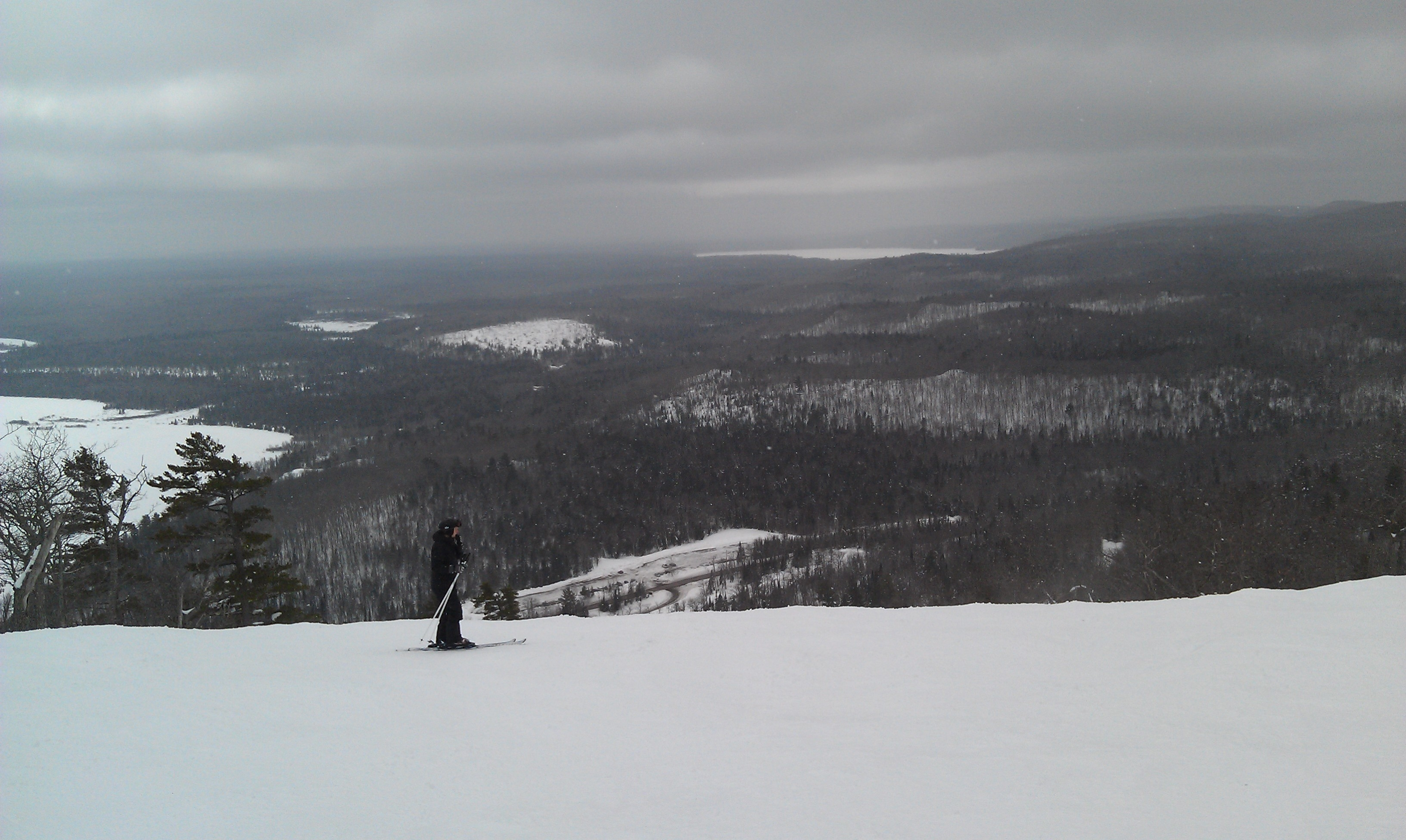 View from near the top