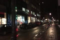 Blinking Christmas street lights