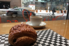 Croissant and an espresso on a December morning